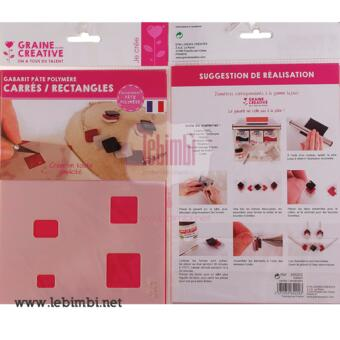 """Template """"Carres / Rectangles"""" -210x148mm"""
