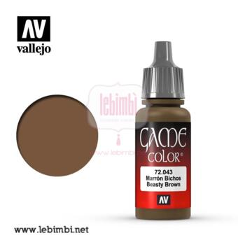 Vallejo GAME COLOR - Beasty Brown 72.043 - 17ml