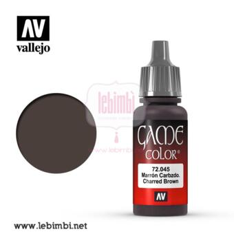 Vallejo GAME COLOR - Charred Brown 72.045 - 17ml