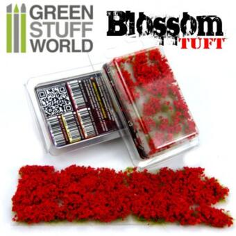 BLOSSOM TUFTS - 6mm self-adhesive - RED Blossom