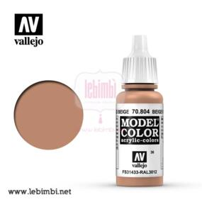 Vallejo MODEL COLOR - Beige Red 70.804 - 17ml