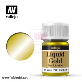 Vallejo LIQUID GOLD - Old Gold 70.792 - 35ml