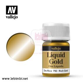 Vallejo LIQUID GOLD - Rich Gold 70.793 - 35ml