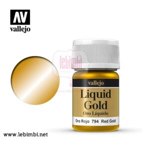Vallejo LIQUID GOLD - Red Gold 70.794 - 35ml