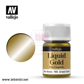 Vallejo LIQUID GOLD - Green Gold 70.795 - 35ml