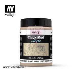 Vallejo THICK MUD - Light Brownl Thick Mud 26.810 - 200ml
