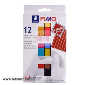 SAMPLE SET - Fimo Leather Effect - 12x25gr