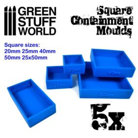 Containment Mould - Quadrati + Rettangolo - Green Stuff World