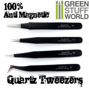 100% Anti-magnetic QUARTZ Tweezers SET - Green Stuff World