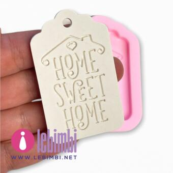 """Stampo tag """"Home Sweet Home"""" 6,5cm - Memahobby"""