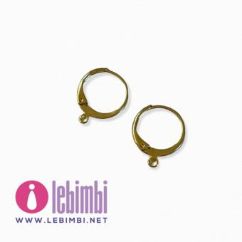 """Base orecchini """"anelle"""" - 15x13mm - GOLD FILLED - Nickel Free - 1 paio"""