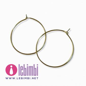 """Base orecchini """"anelle"""" - 24mm - GOLD FILLED - Nickel Free - 1 paio"""