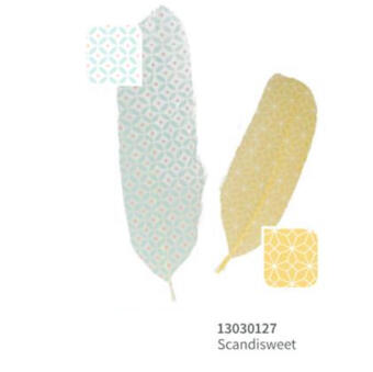 Piume decorative stampate, Scandisweet