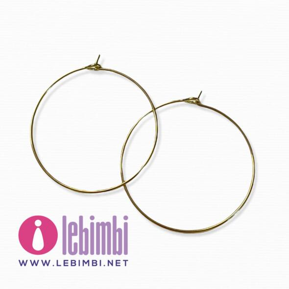 """Base orecchini """"anelle"""" - 30mm - GOLD FILLED - Nickel Free - 1 paio"""